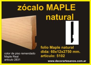 Zocalo foliado  MAPLE NATURAL a5102